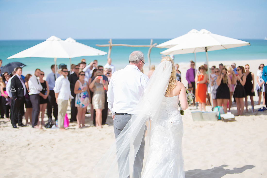 Kristy & Sam get married on the beach at Bunker Bay.